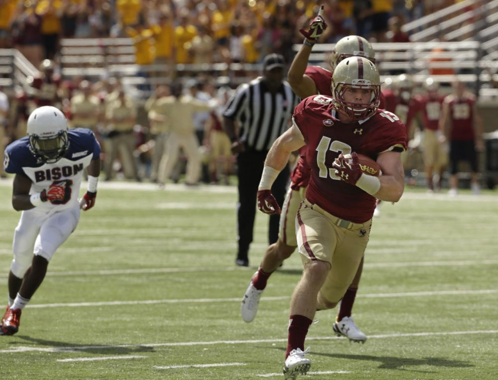 In one of many FCS-FBS college football beatdowns last weekend, Boston College topped Howard 76-0. Why play these games? An FCS athletic director helps explain. (Stephan Savoia/AP)