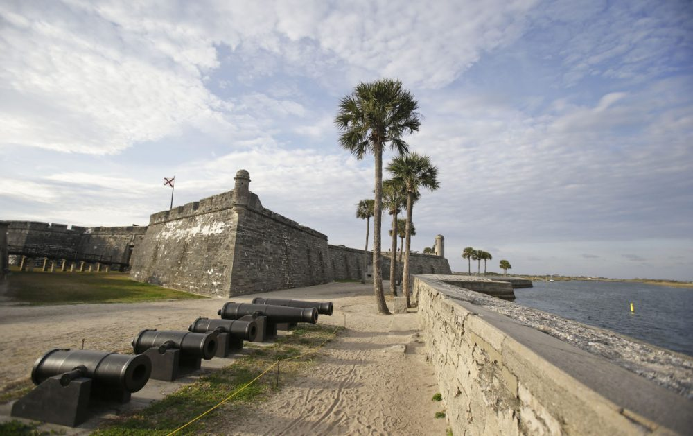 The Castillio de San Marcos fort was built over 450 years ago in St. Augustine, Florida. (John Raoux/AP)