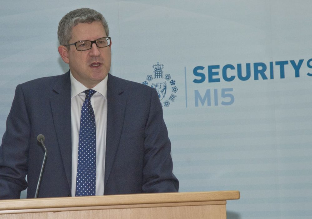 Andrew Parker, Director General of Britain's MI5, recently warned that technology is allowing terrorists to communicate out of reach of authorities. (MI5 Security Service/AP File Photo)