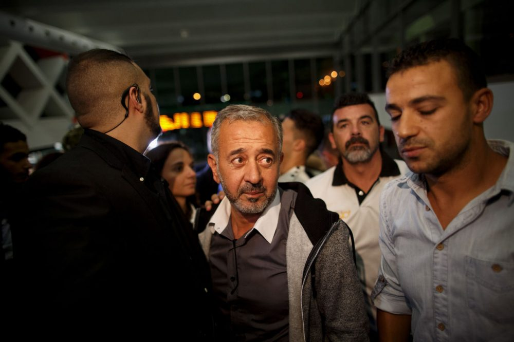 After being tripped on camera while flying a refugee camp, former-Syrian soccer coach Osama Abdul Mohsen could not have expected what his future would hold. (Courtesy Javier Soriano/ Getty Images)