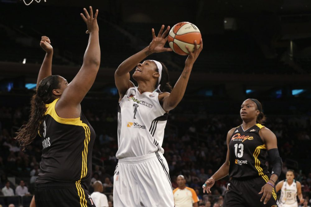 New York Liberty center Avery Warley says players are focusing on their game. That focus shows. (Mary Altaffer/AP)