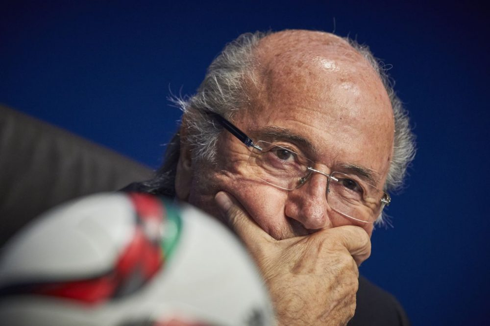 Embattled FIFA President Sepp Blatter is being investigated by Swiss prosecutors for criminal wrongdoing.  (Michael Buholzer/AFP/Getty Images)