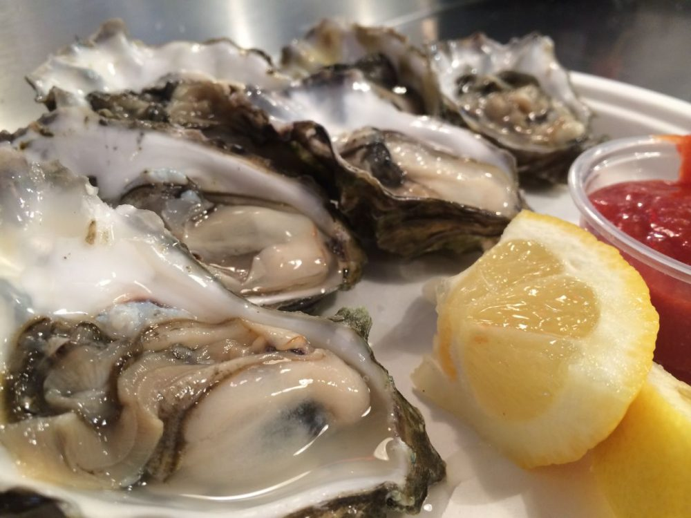 If you order oysters at a restaurant, how do you know they're fresh? Here & Now's Peter O'Dowd finds out. (Jeremy Keith/Flickr)