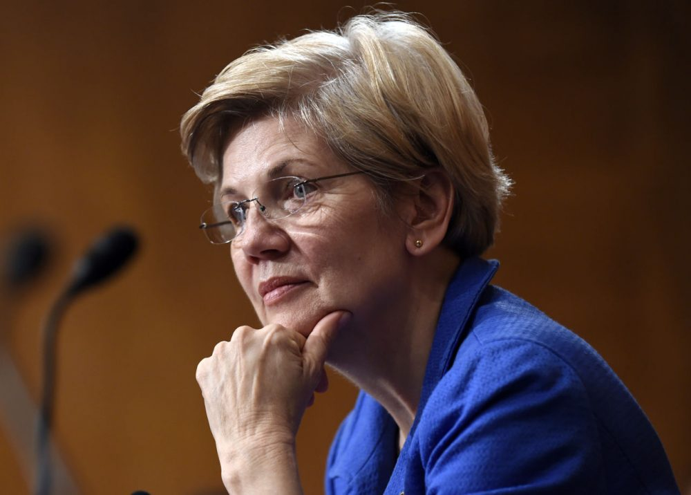 In this July 16 file photo, Sen. Elizabeth Warren listens to Federal Reserve Chair Janet Yellen testify before the Senate Banking, Housing, Urban Affairs Committee in Washington, D.C. (Susan Walsh/AP)