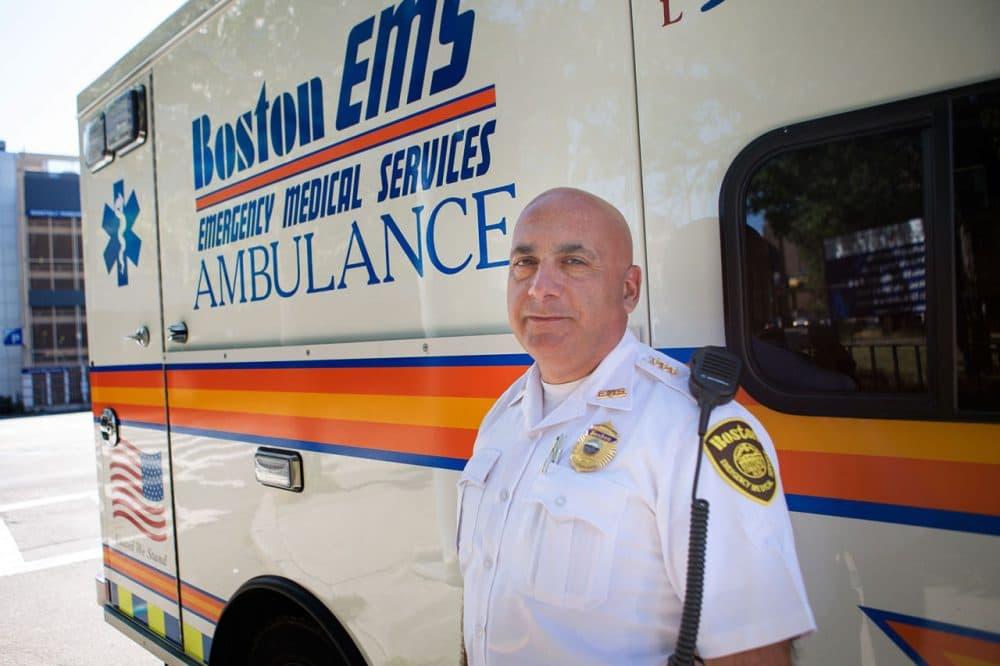 Boston Emergency Medical Services Deputy Superintendent Edmund Hassan (Jesse Costa/WBUR)