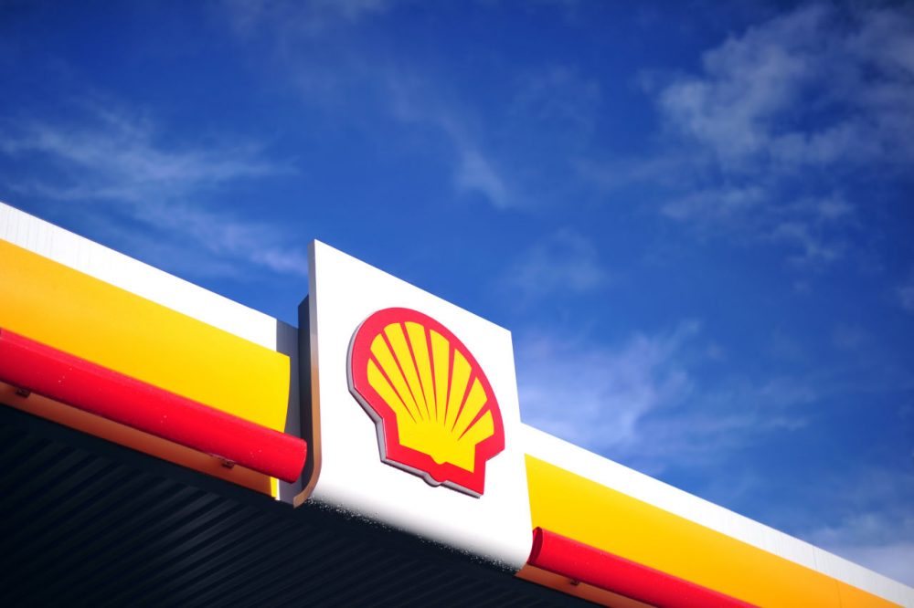 The Shell logo is pictured outside a Shell petrol station in central London on January 17, 2014. (Carl Court/AFP/Getty Images)