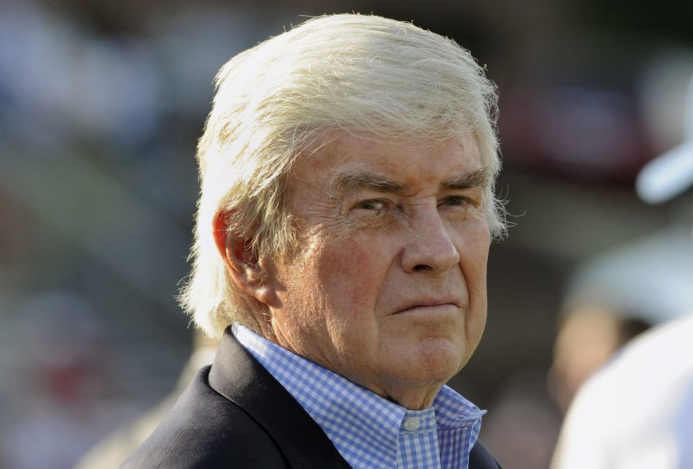 Jack Kemp (1935-2009) is pictured on August 3, 2008 in Canton, Ohio. (Al Messerschmidt/Getty Images)