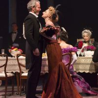 """Stephen Bogardus and Lauren Molina in """"A Little Night Music"""" at the Huntington. (T. Charles Erickson)"""
