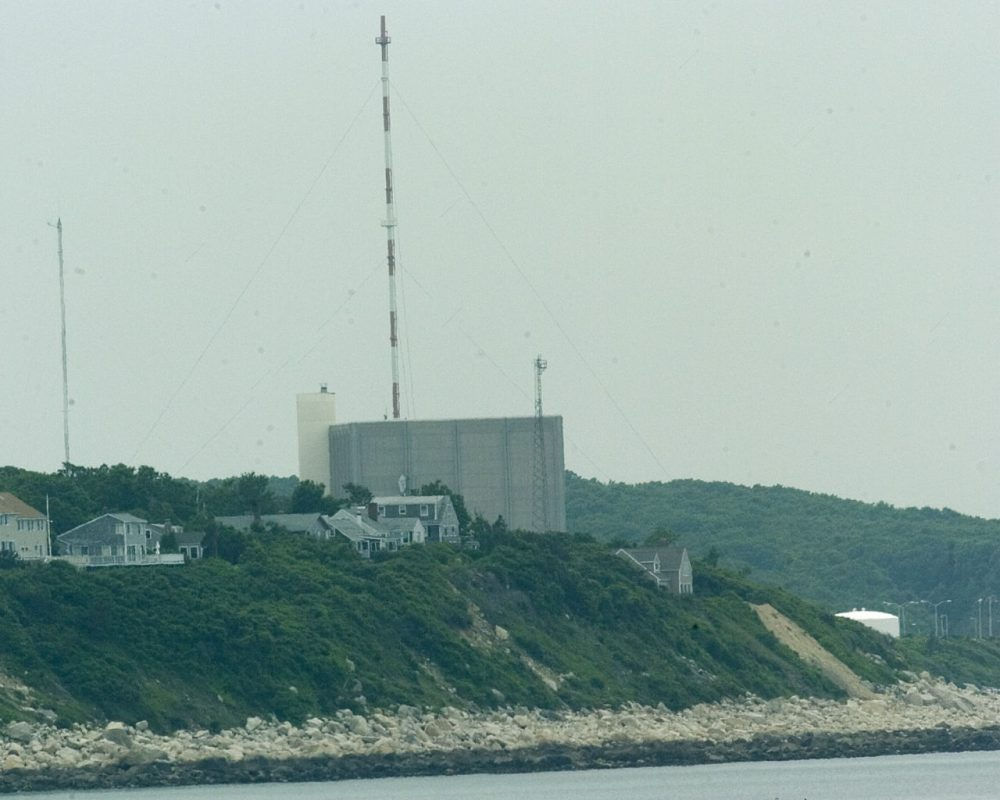 The Pilgrim Station nuclear power plant in Plymouth, Mass. opened in 1972.  (Robert E. Klein/AP)