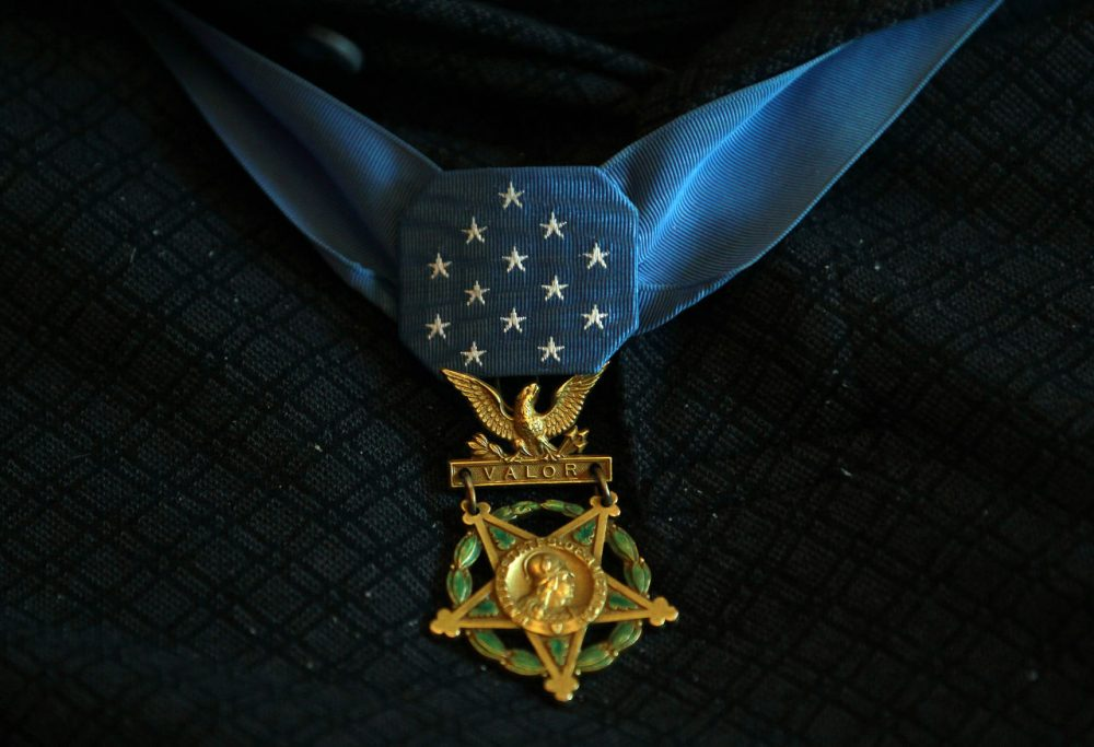The Congressional Medal of Honor Society's annual convention is in Boston this year. Pictured, the Medal of Honor awarded to Gary Wetzel, a soldier from Wisconsin who was honored for his actions in the Vietnam War. (John Bazemore/AP)