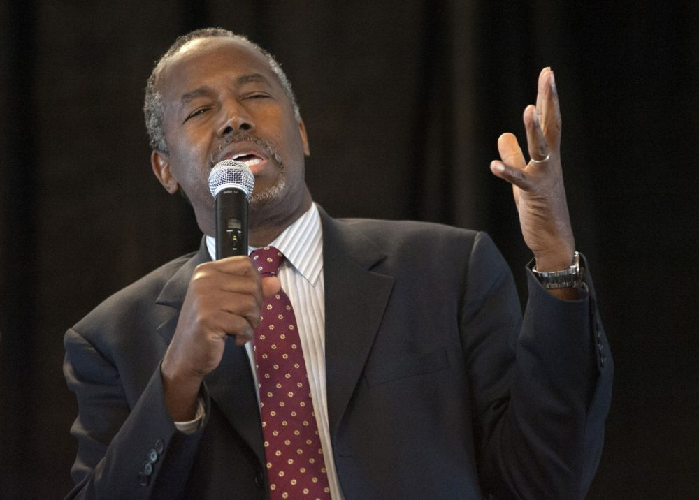 Republican presidential candidate Ben Carson has to be less laconic, even if people like his calm reason, says analyst Dan Payne. (Sid Hastings/AP)