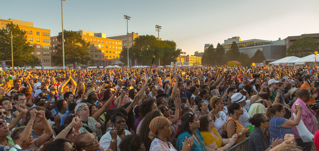 The crowd in 2015 at the Beantown Jazz Festival in Boston's South End. (Sean Hafferty)