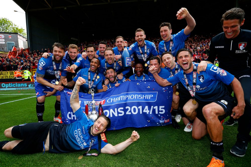 After winning the Sky Bett Championship earlier this year, AFC Bournemoth capped an improbable run to England's Premier League. (Steve Bardens/Getty Images)