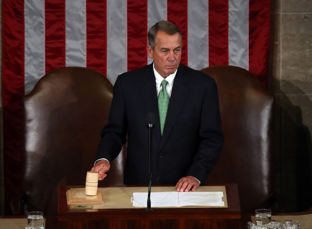 Speaker of the House John Boehner (R-OH) call to order of the joint meeting of the U.S. Congress in the House Chamber of the U.S. Capitol on September 24, 2015 in Washington, D.C. (Mark Wilson/Getty Images)