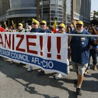 "Tom Kochan: ""Can labor adapt to a changing workforce and economy and once again become the innovative force that helped build a strong middle class?"" Pictured: Marchers start the annual Labor Day parade on Monday, Sept. 7, 2015, in Pittsburgh. (Keith Srakocic/AP)"