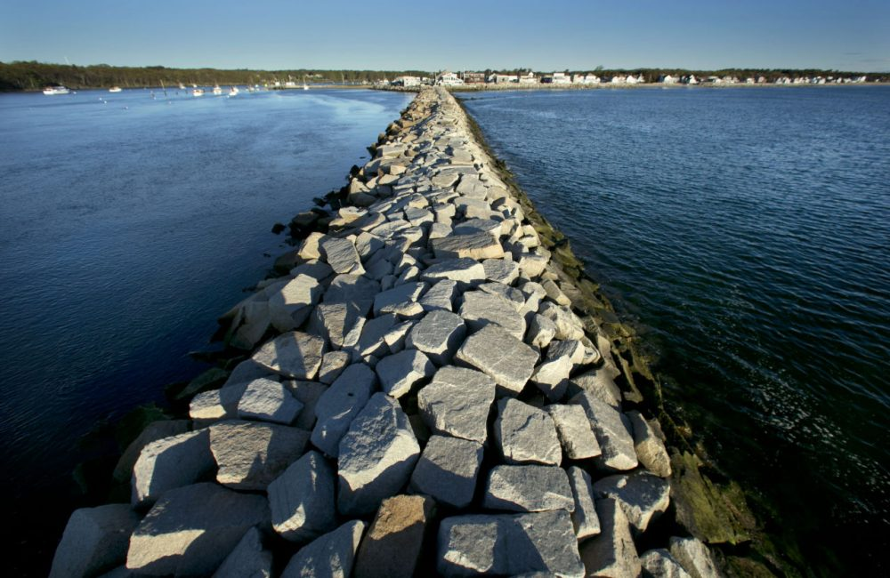 A jetty in Saco, Maine. Many of Ann Beattie's stories center around this state's beaches in the summer. (AP Photo/Robert F. Bukaty)