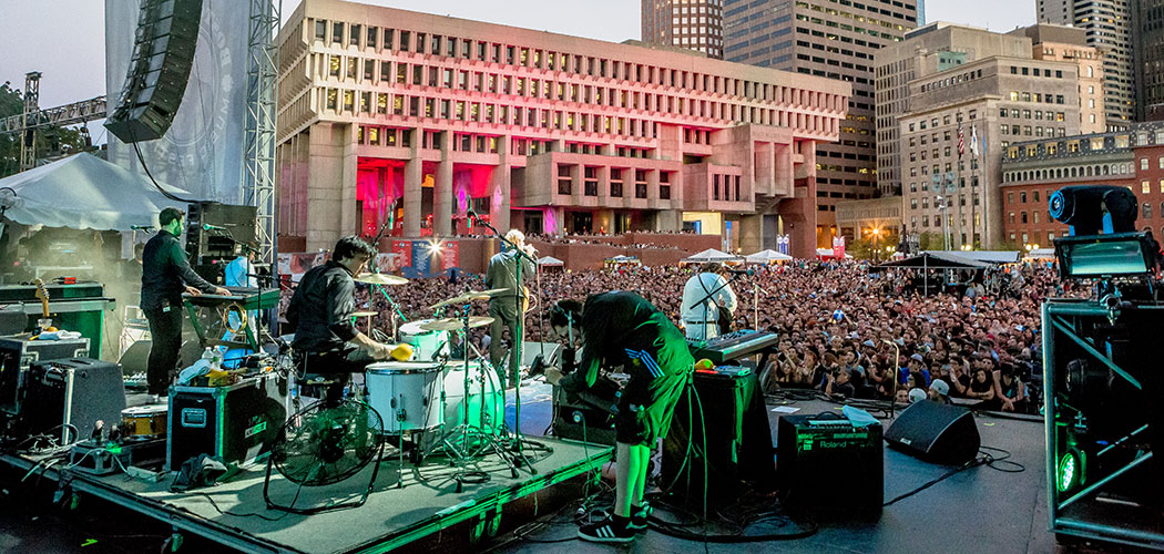 The September 2014 Boston Calling Music Festival at Boston's City Hall Plaza. (Mike Diskin)