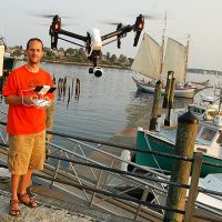 As drones have become cheaper and easier to fly, many people--like Martin Del Vecchio of Gloucester, the subject of our video and radio report above--are exploring the creative possibilities of the fliers. (Greg Cook/WBUR)