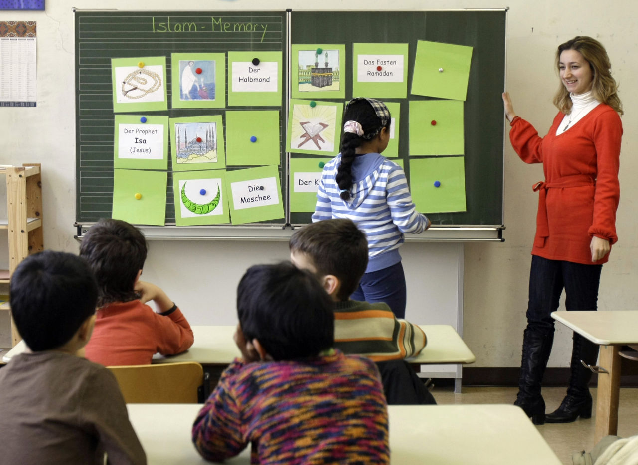 Teaching different religions in school, from a young age, is very important in terms of encouraging religious tolerance, according to Linda Wortheimer. (AP Photo/Thomas Kienzle)