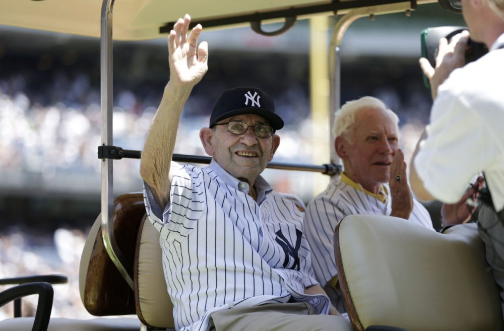 Yogi Berra was fired from his position as the Yankees' manager mid-game in 1985. (AP Photo/Kathy Willens)