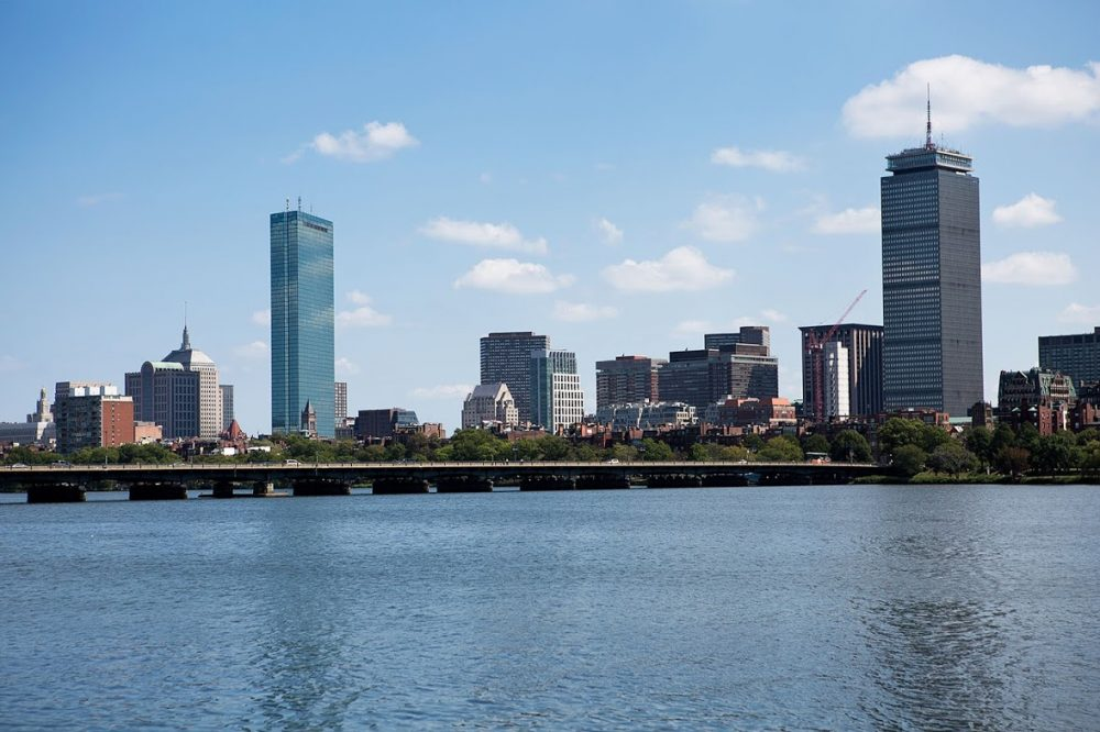 A view of Boston. (Jesse Costa/WBUR)