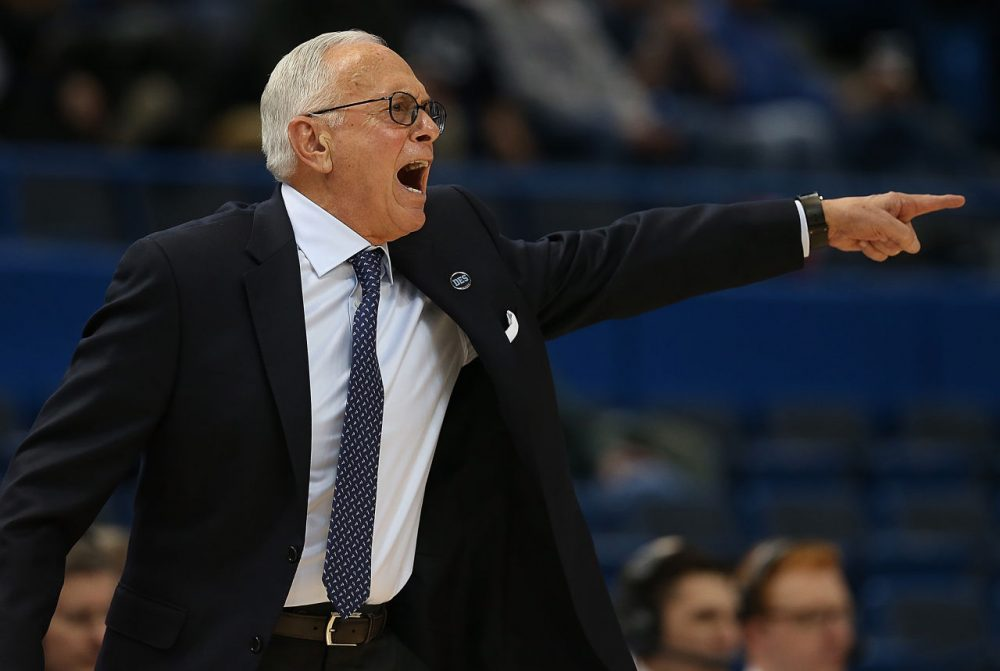 Southern Methodist University Coach Larry Brown is suspended after a NCAA investigation into academic fraud. (Jim Rogash/Getty Images)