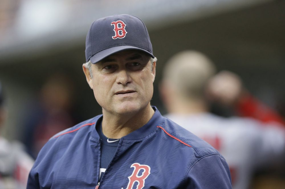 Red Sox manager John Farrell says he is grateful after learning he is in remission. (Carlos Osorio/AP)