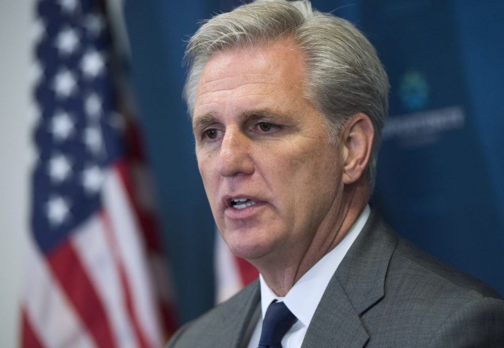 U.S. House Majority Leader, Rep. Kevin McCarthy (R-CA), speaks following the weekly House Republican Conference meeting at the U.S. Capitol in Washington, D.C., October 7, 2015. (Saul Loeb/AFP/Getty Images)