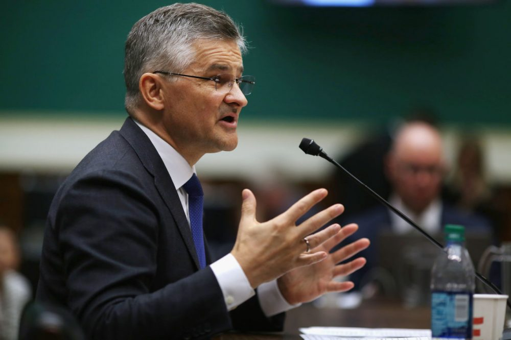 Volkswagen Group of America President and CEO Michael Horn testifies before the House Energy and Commerce Committee's Oversight and Investigations Subcommittee on Thursday. (Chip Somodevilla/Getty Images)