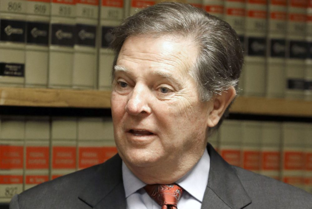 Former U.S. House Majority Leader Tom DeLay speaks with media Wednesday, Oct. 1, 2014, in Houston after the highest criminal court in Texas refused to reinstate two money-laundering convictions against him. The Texas Court of Criminal Appeals upheld a ruling from the 3rd Court of Appeals tossing the 2010 convictions. (Pat Sullivan/AP)
