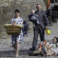 Caroline Catz as Louisa and Martin Clunes as Doc Martin. (Acorn TV)