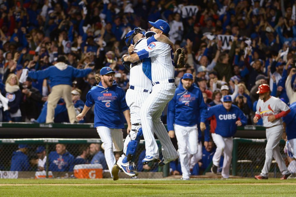 The Chicago Cubs are going to the NLCS! The Cubs topped the Cardinals 3-1 in the NLDS. (David Banks/Getty Images)