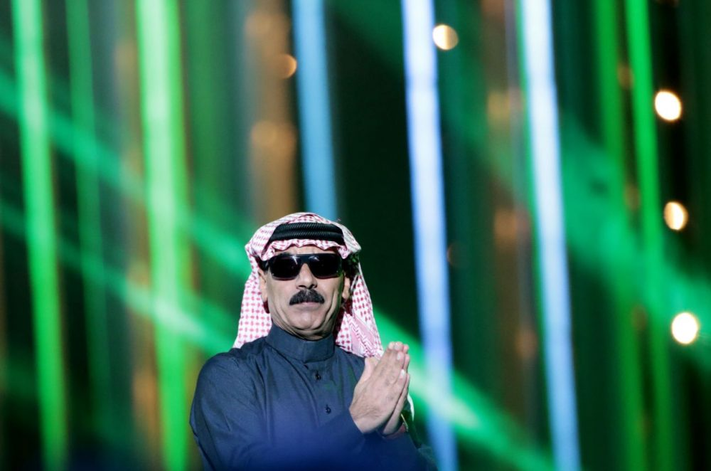 Syrian singer Omar Souleyman performs during the Nobel Peace Prize concert in Oslo, Norway on December 11, 2013. (Daniel Sannum Lauten/AFP/Getty Images)