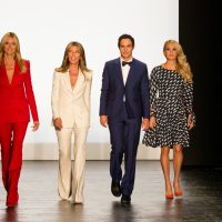 Julie Wittes Schlack: As the political process becomes ever more like a reality series, why not learn from the best of them? In this photo, Project Runway judges Heidi Klum, Nina Garcia and Zac Posen are joined by guest judge Carrie Underwood as they attend the show's 14th Season Fashion Show at The Arc Skylight on Friday, Sept. 11, 2015, in New York. (Michael Zorn/ AP)