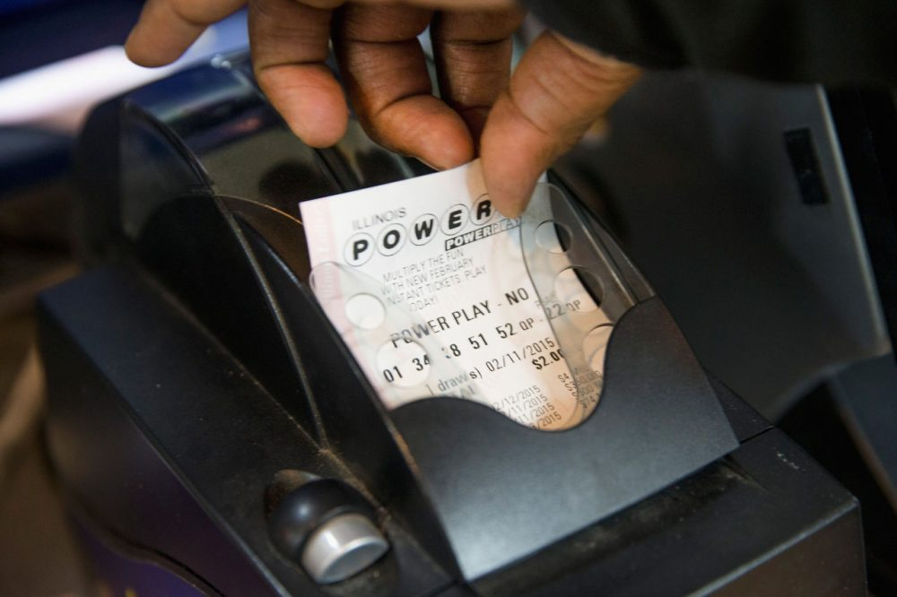 A Powerball lottery ticket is printed for a customer at a 7-Eleven store on February 11, 2015 in Chicago, Illinois. (Scott Olson/Getty Images)