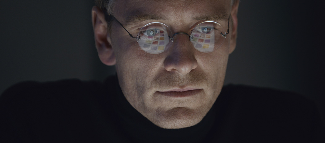 "Michael Fassbender stars as Steve Jobs in a scene from the film, ""Steve Jobs."" (Universal Pictures/AP)"