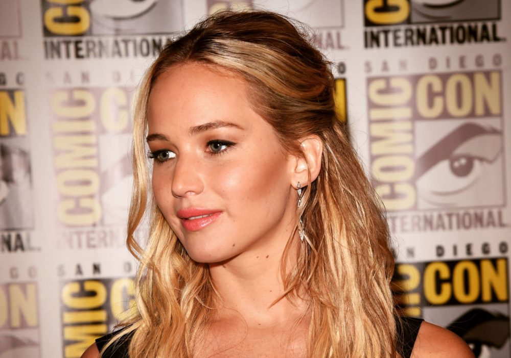 "Actress Jennifer Lawrence of ""The Hunger Games: Mockingjay - Part 2"" attends the Lionsgate Press Room during Comic-Con International: San Diego 2015 on July 10, 2015 in San Diego, California.  (Jason Merritt/Getty Images)"