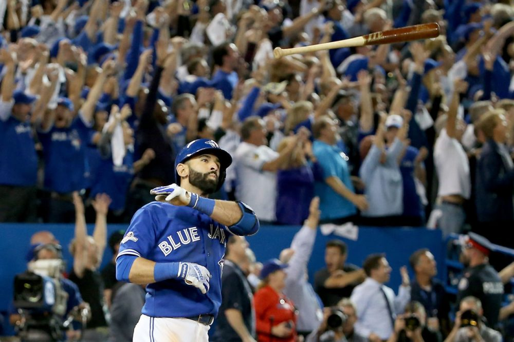 As if Jose Bautista's ALDS-winning three-run home run wasn't big enough on its own. (Tom Szczerbowski/Getty Images)