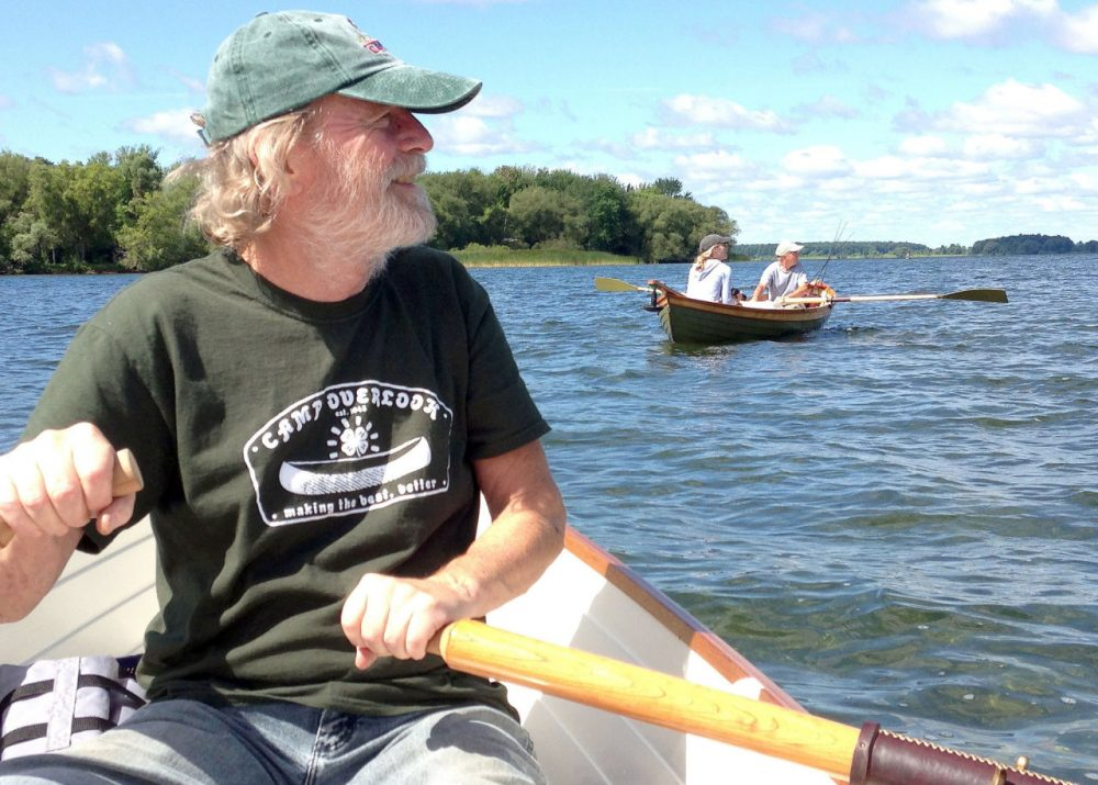 Bill Smithers has worked in wood for more than 30 years, as a master furniture maker and as the Antique Boat Museum's resident boat builder in the late 1980s and early 1990s. (David Sommerstein)