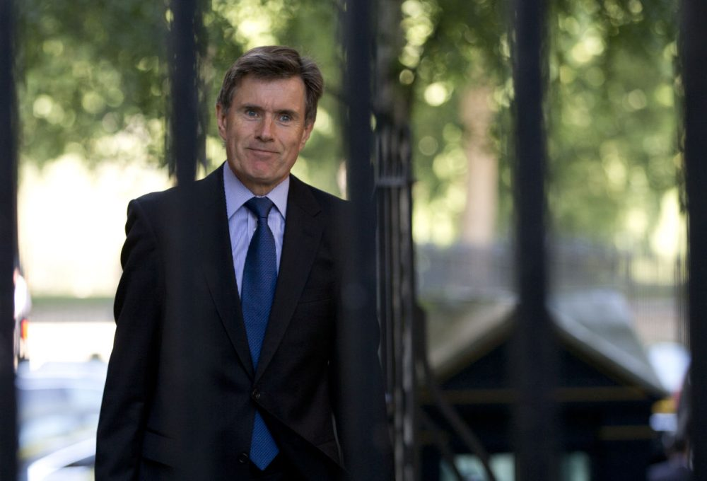 Britain's head of the Secret Intelligence Service (MI6) John Sawers arrives for a national security meeting on the situation in Syria at Downing Street in London, Aug. 28, 2013. (Alastair Grant/AP)