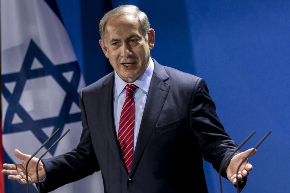 BERLIN, GERMANY - OCTOBER 21:  Israeli Prime Minister Benjamin Netanyahu has made claims that Palestinian religious leader during World War II .....(Carsten Koall/Getty Images)
