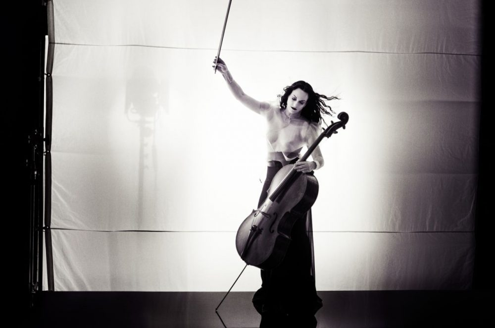 "Classical cellist Maya Beiser will be ""uncovering"" rock songs at MIT Sounding Friday. (Courtesy Jensen Artists)"