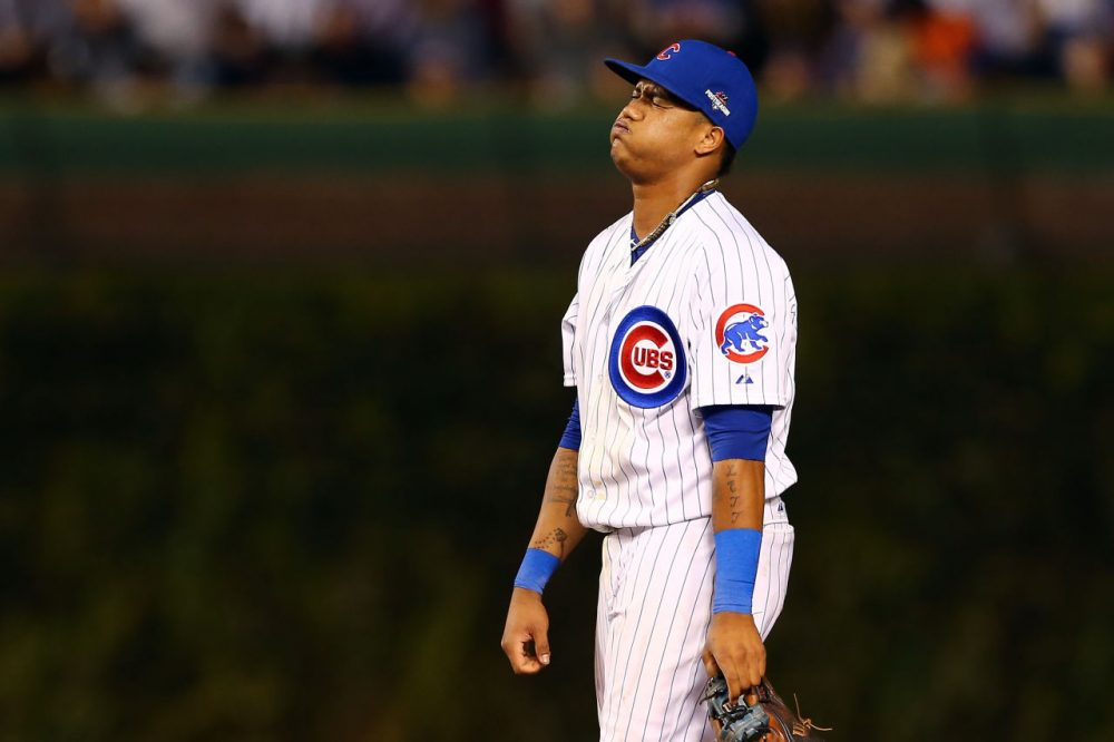 """Despite the predictions of """"Back To The Future Part II"""" the Chicago Cubs are not making it to the 2015 World Series. (Elsa Garrison/Getty Images)"""