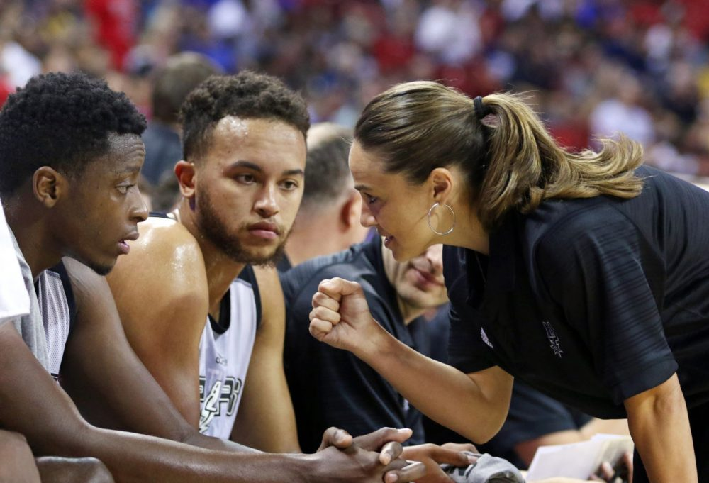 Becky Hammon coached the San Antonio Spurs to victory in the NBA summer league. (Ronda Churchill/AP)