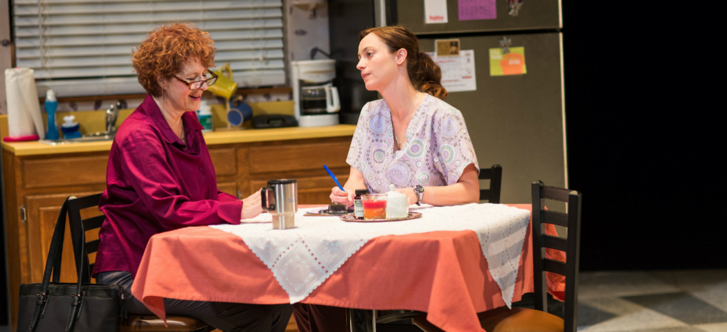 "Social worker Caroline (Paula Plum) and Cindy (Stacy Fischer) in ""Luna Gale."" (Nile Hawver/Nile Scott Shots)"