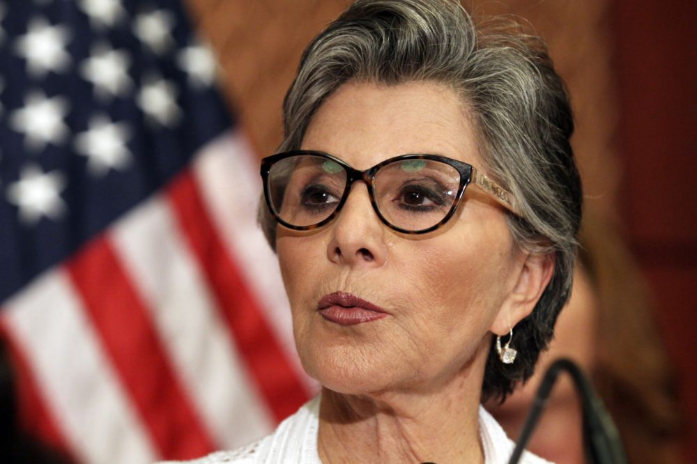 Sen. Barbara Boxer, D-Calif., speaks to reporters on Planned Parenthood on Monday, Aug. 3, 2015 on Capitol Hill in Washington where the Senate blocked a Republican drive to terminate federal funds for Planned Parenthood. Sen. Boxer has announced she will not be running for Senate at the end of her term next year. (Lauren Victoria Burke/AP Photo)