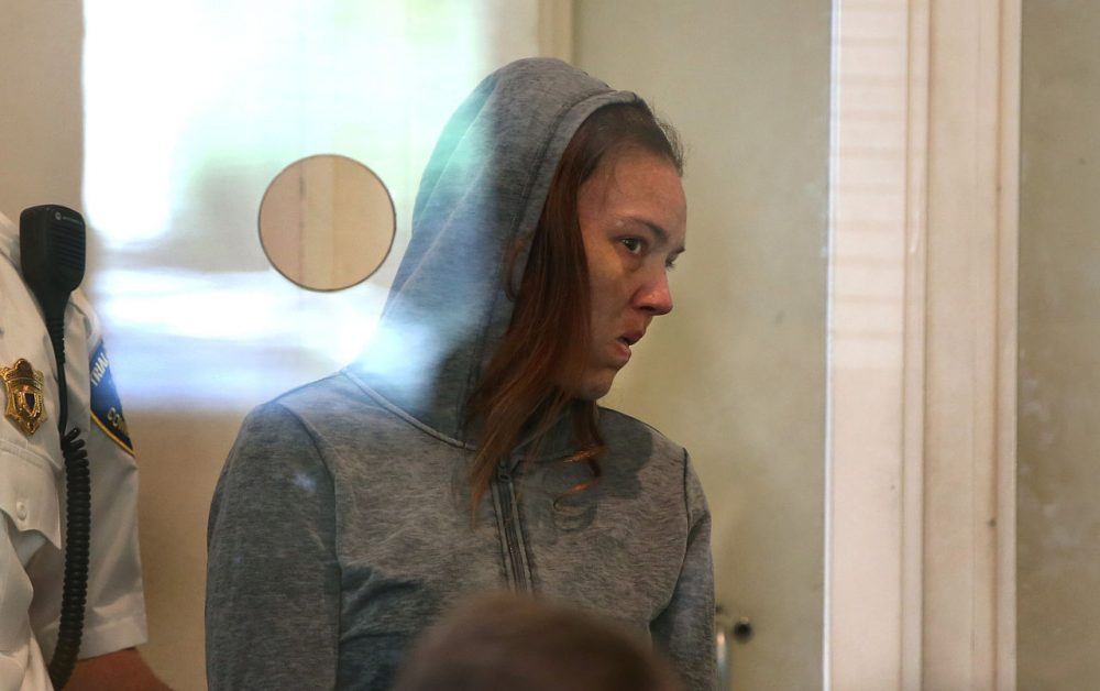 Rachelle Dee Bond is arraigned on charges of acting after the fact in helping to dispose of the body of her daughter, the girl dubbed Baby Doe, in Dorchester District Court in September. (Pat Greenhouse/The Boston Globe via AP, Pool)