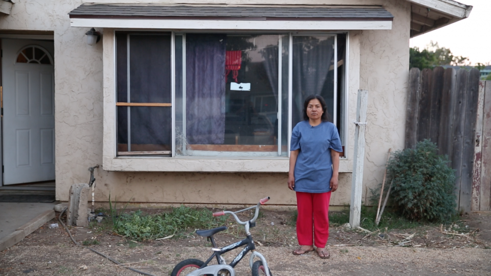 When Angelina Diaz-Ramirez, an immigrant farmworker from Mexico, suffered a heart attack, no one at the hospital could explain what was happening to her. She speaks Triqui, an indigenous language in southern Mexico. (Jeremy Raff/KQED)
