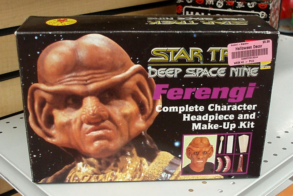 "A ""Star Trek: Deep Space Nine"" Ferengi costume is pictured at a Goodwill store in 2013. (theliteraryomnivore/Flickr)"