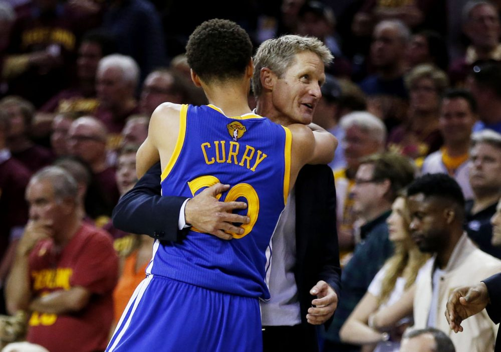Averaging just 32.7 minutes per game, Stephen Curry played the lightest load of any NBA MVP. It was all part of a plan hatched by first-year Warriors coach Steve Kerr (right) -- and it seems to have paid off. (
